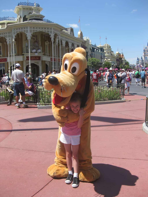Pluto at Magic Kingdom 2011