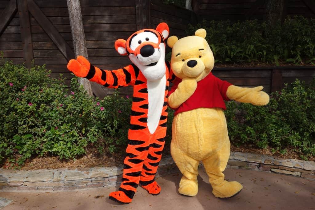 Tigger and Pooh Magic Kingdom 2013