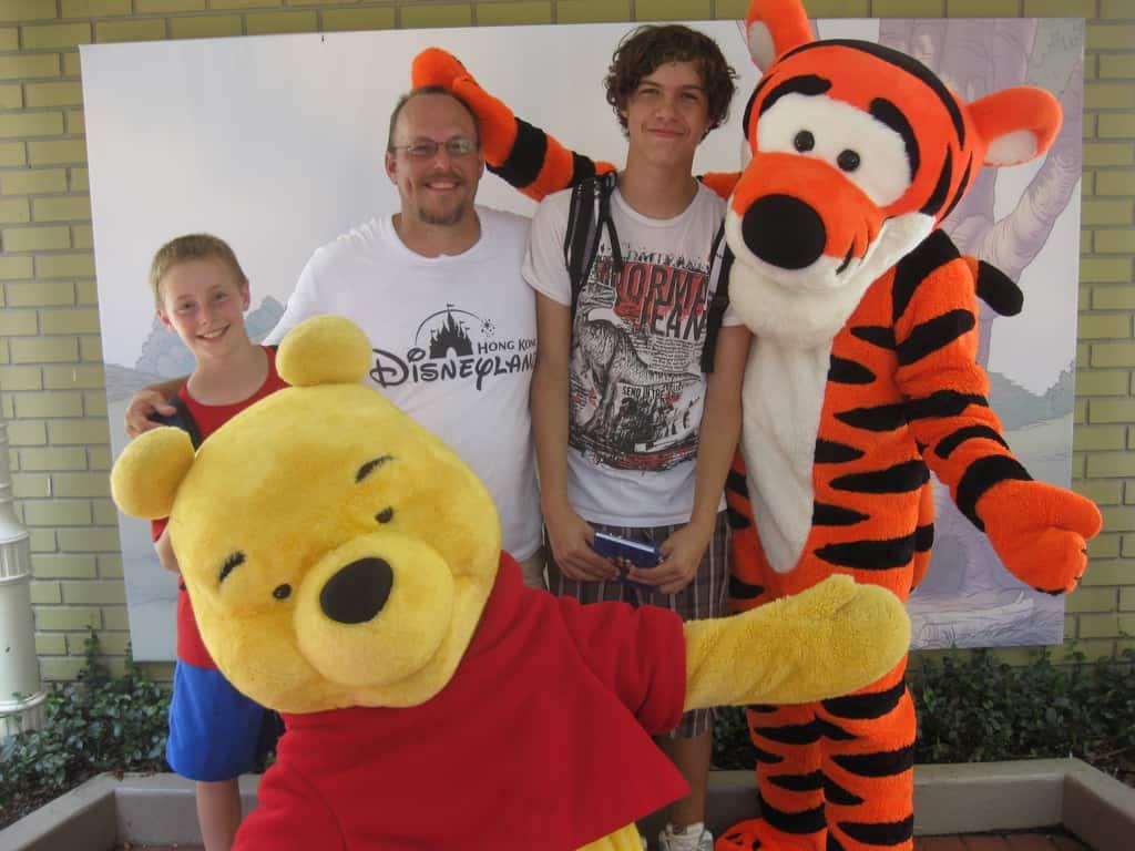 Tigger and Pooh City Hall Magic Kingdom 2010
