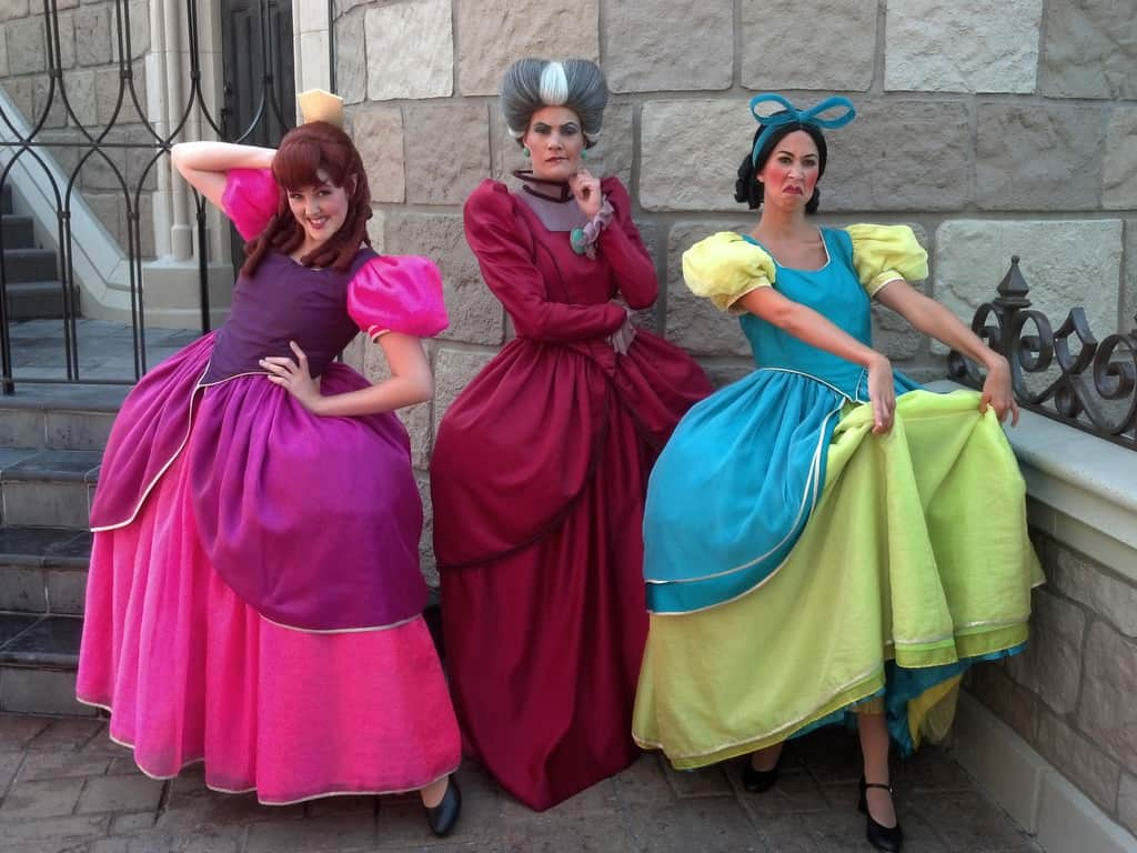 Anastasia, Drizella and Lady Tremaine Magic Kingdom 2012