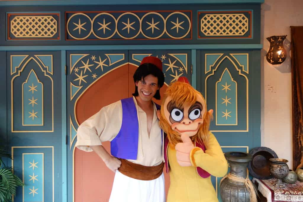 Abu and Aladdin at Mickey's Not So Scary Halloween Party in the ...