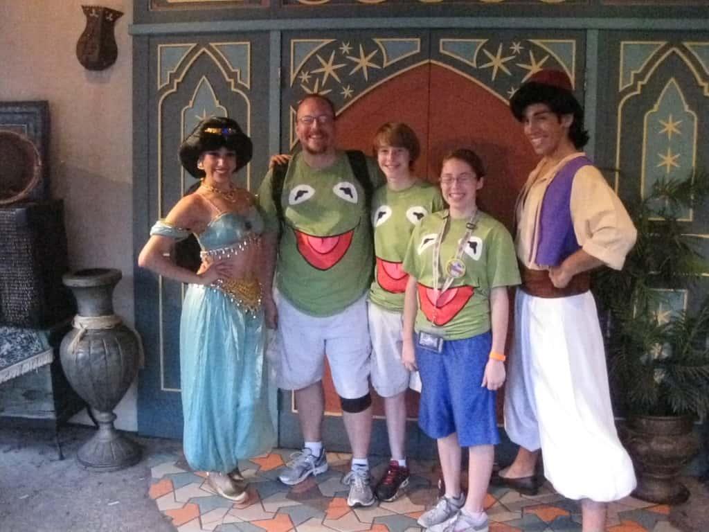 Aladdin and Jasmine - Magic Kingdom 2012 Leap Day