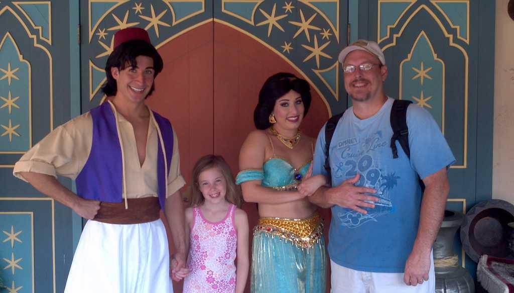 Aladdin and Jasmine - Magic Kingdom 2012