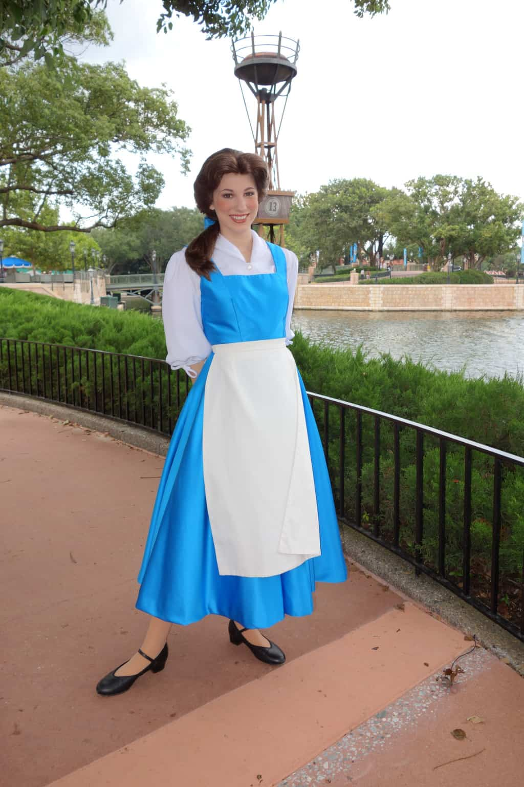 Belle in France at Epcot