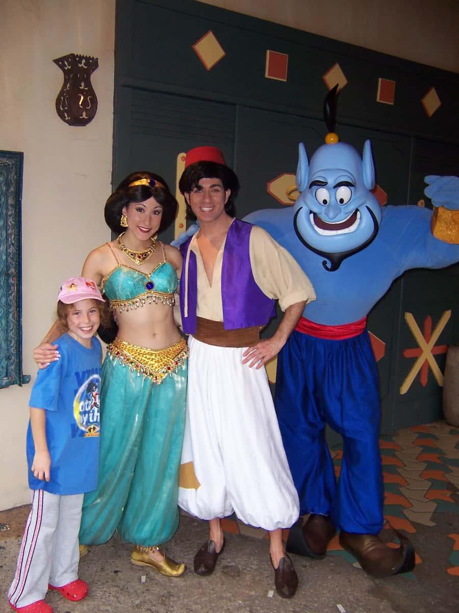 Aladdin Genie and Jasmine - Magic Kingdom 2006