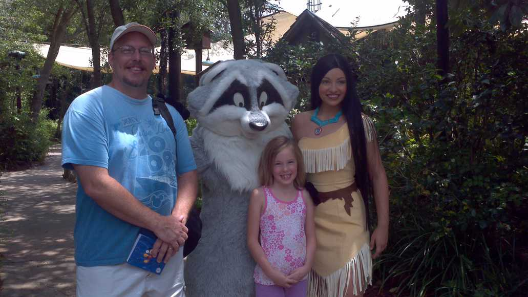 Pocahontas with Meeko April 2012 Camp Minnie Mickey
