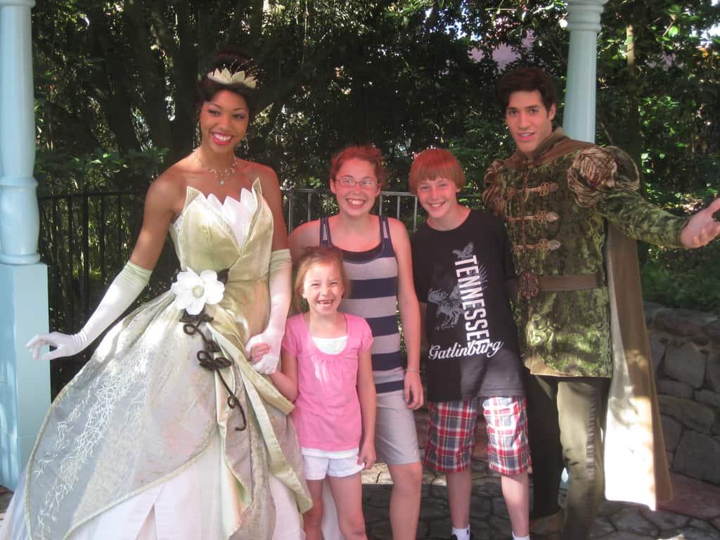 Tiana and Naveen - Magic Kingdom 2011