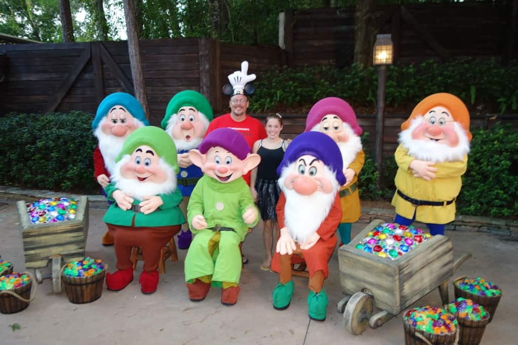 The Seven Dwarves at Mickey's Not So Scary Halloween Party 2012