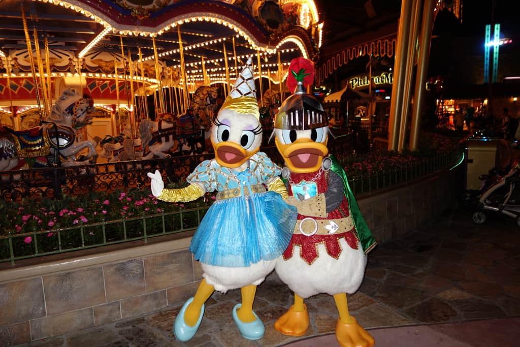 Knight Donald and Princess Daisy at Mickey's Not So Scary Halloween Party 2012