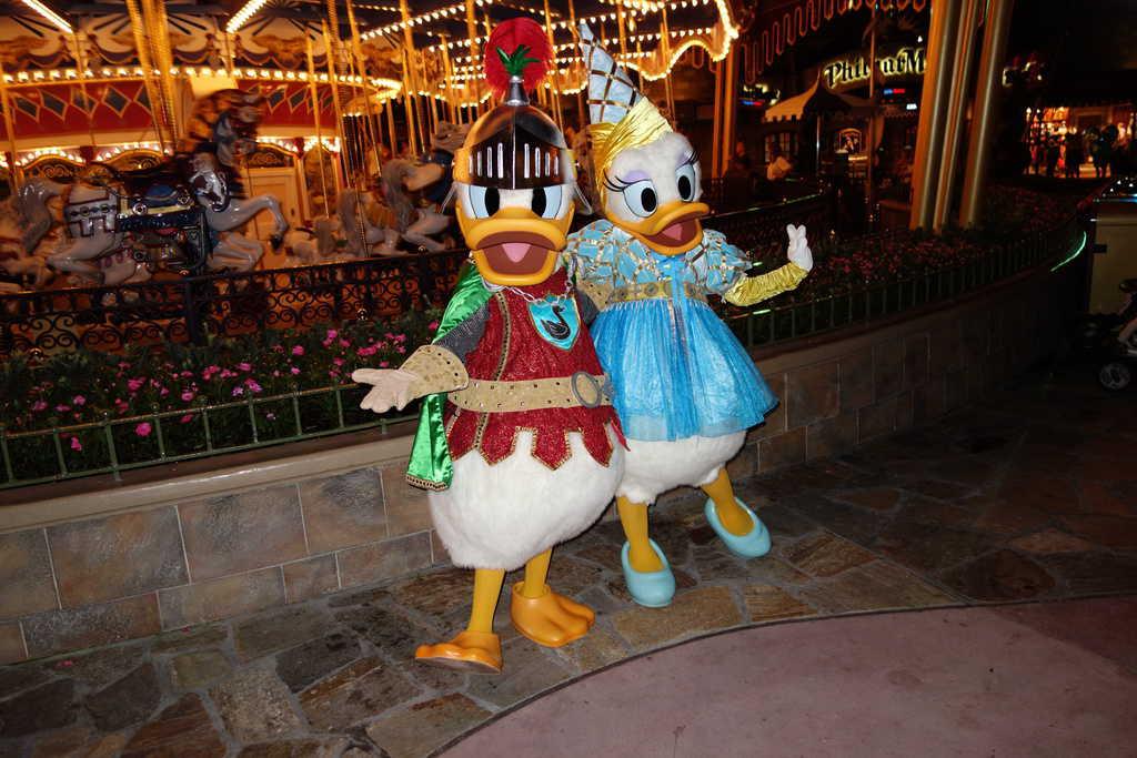 Knight Donald and Princess Daisy