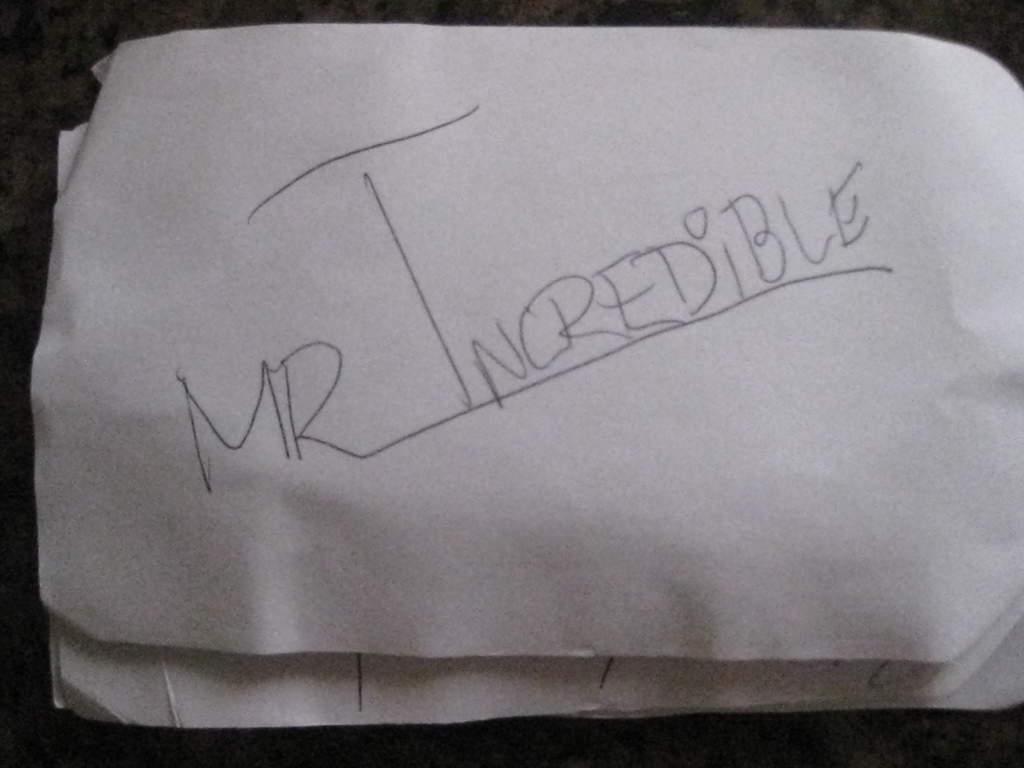 Mr Incredible Autograph