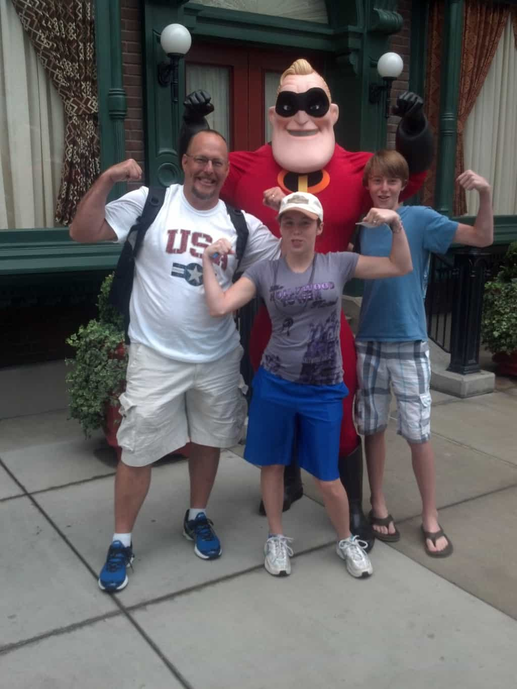 Mr. Incredible at California Adventure 2012