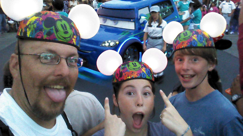 Don't we look cool in our Glow with the Show ears?
