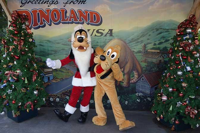 Goofy n Pluto Animal Kingdom Christmas 2012