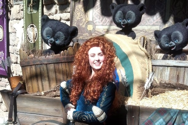 Merida at Magic Kingdom in Disney World 2012