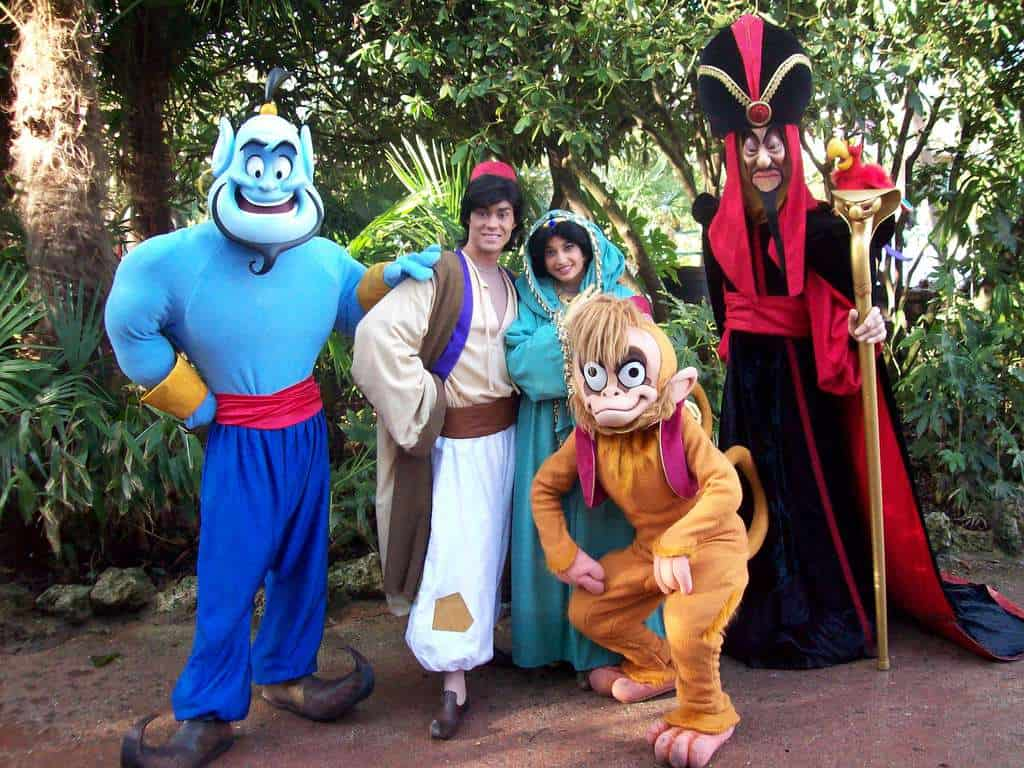 Aladdin Jasmine Genie Abu And Jafar At Disneyland Paris Character