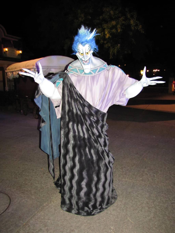 Hades meeting at Disneyland Paris Halloween Soiree