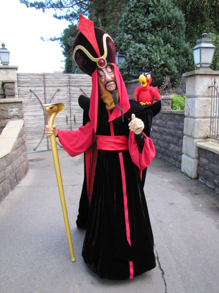 Jafar with Iago at Disneyland Paris  copyright EuroRob