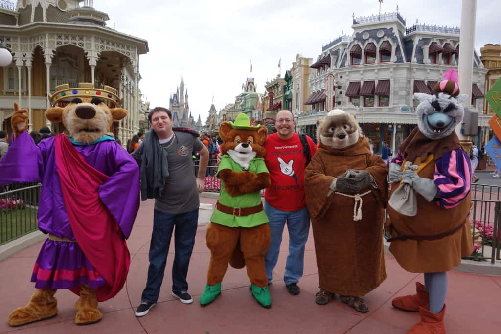 My buddy Josh was off in the morning, so he met some characters with me.