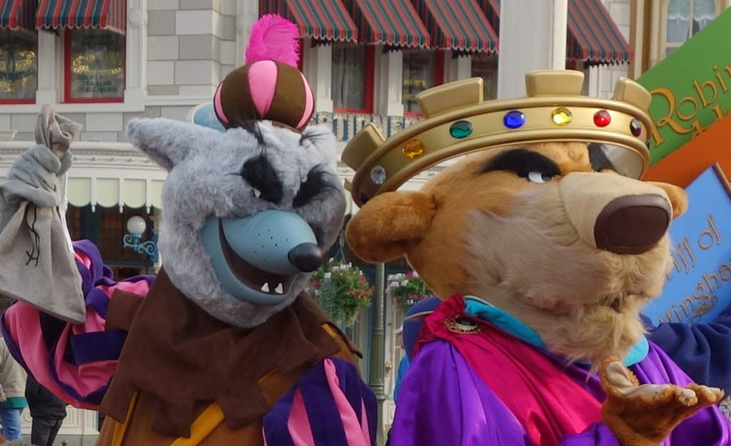 Sheriff of Nottingham and Prince John at Long Lost Friends Week at the Magic Kingdom Jan 2012