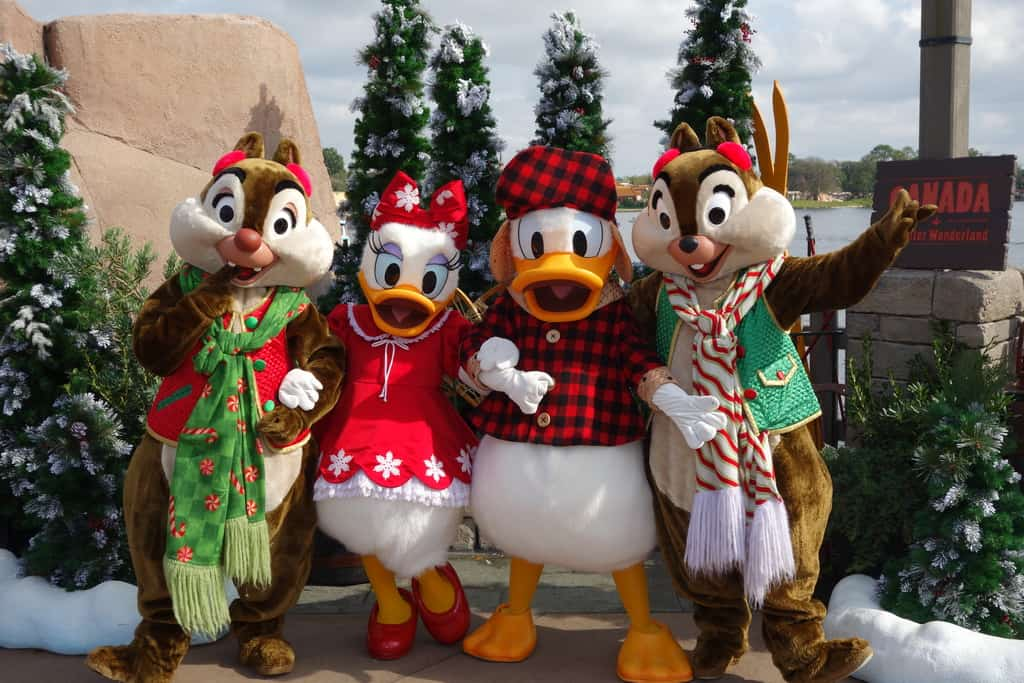 Winter Wonderland at Epcot's Canada Pavilion January 2013