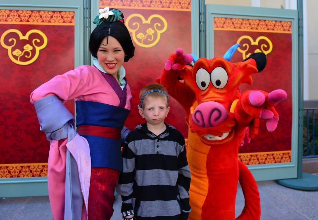 Mulan and Mushu Chinese New Year Celebration