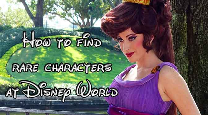 How to find rare characters at Disney World