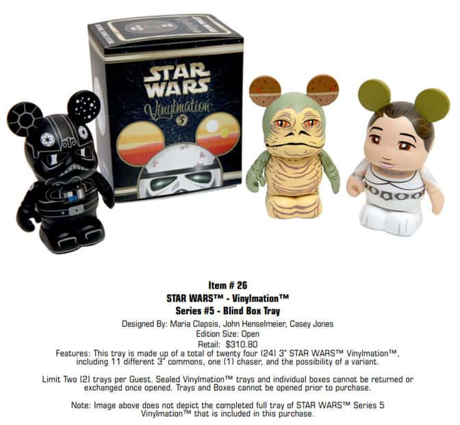 Star Wars Weekends Vinylmation Blind Box Tray l kennythepirate.com