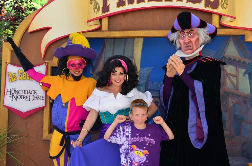 Clopin, Esmeralda and Frollo