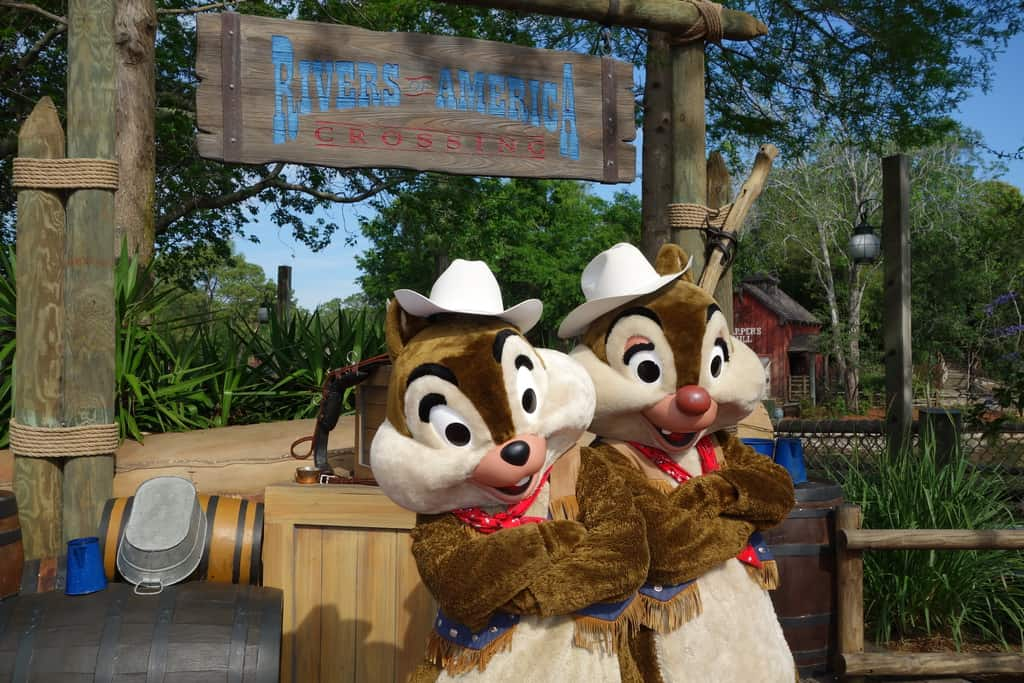 Chip n Dale Frontierland Magic Kingdom