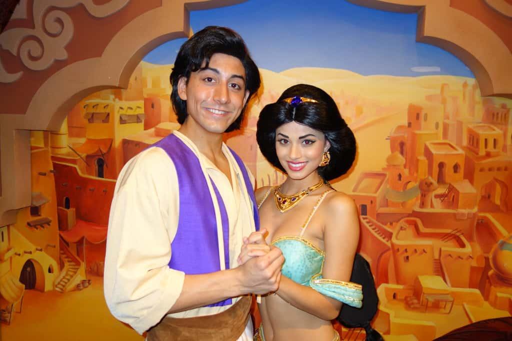 Aladdin and Jasmine in Epcot 2013