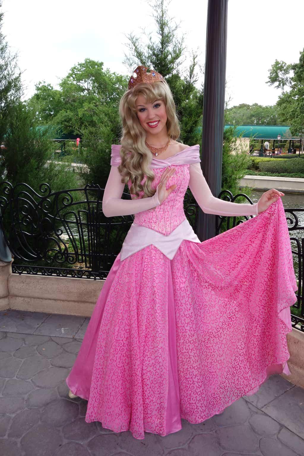 Princess Aurora in France at Epcot