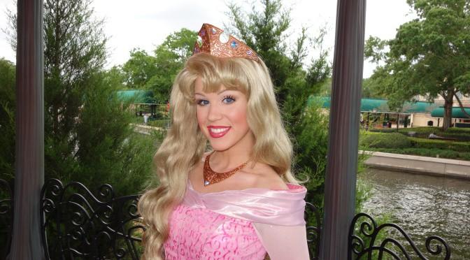 Princess Aurora in France at Epcot 2013
