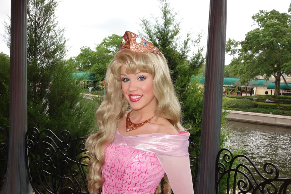 Princess Aurora in France at Epcot 2013