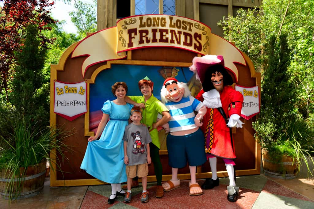 Wendy, Peter Pan, Smee, Hook
