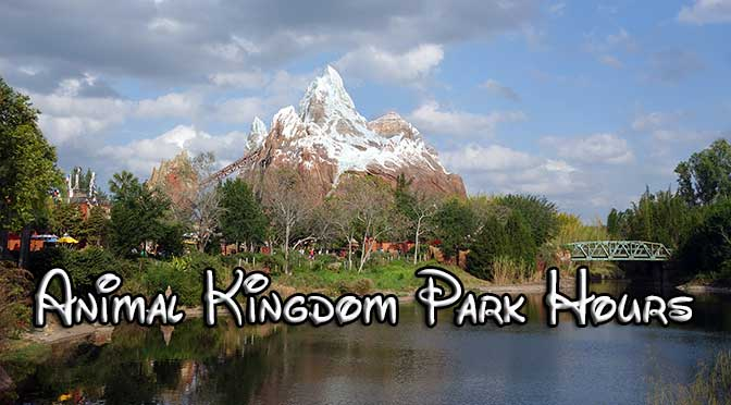 disney world park hours, animal kingdom park hours