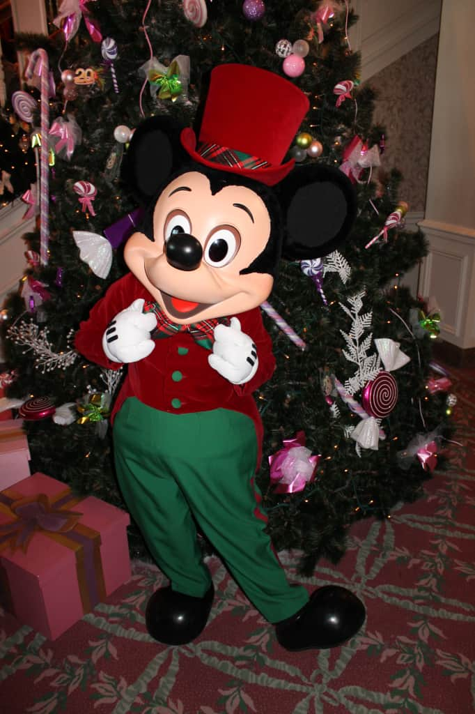 Mickey meet and greet at Disneyland Paris Christmas