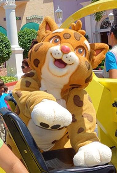 Baby Jaguar meet and greet at Universal Studios Florida