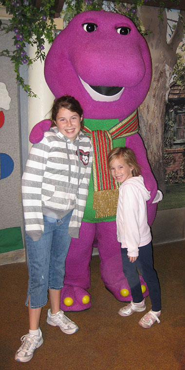 Barney meet and greet at Universal Studios Florida