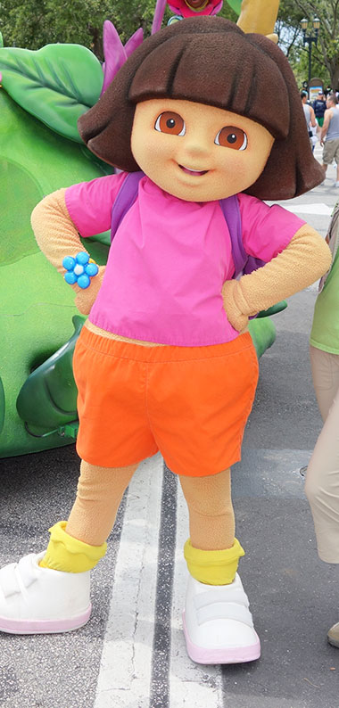 Dora the Explorer meet and greet at Universal Studios Orlando