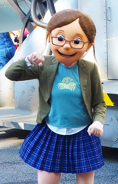 Margo Despicable Me character meet and greet at Universal Orlando