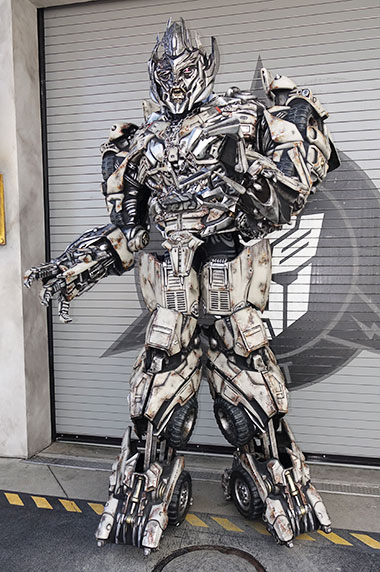Megatron from Transformers character meet and greet at Universal Orlando Florida