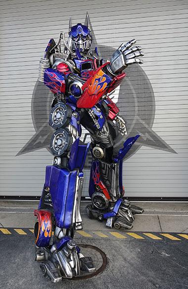 Optimus Prime character meet and greet at Universal Orlando