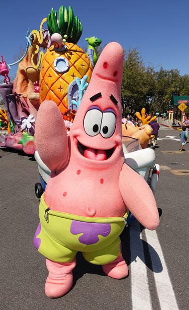Patrick the Starfish character meet and greet at Universal Studios Florida