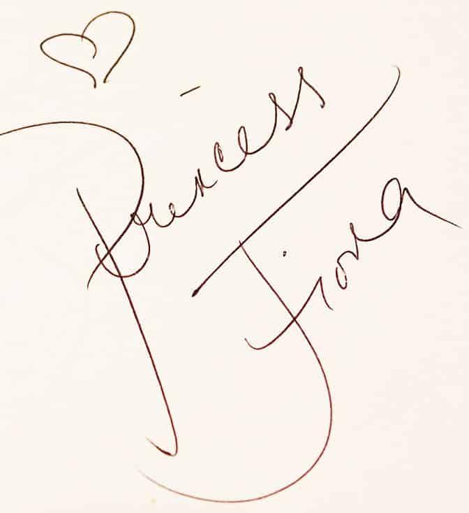 Princess Fiona autograph