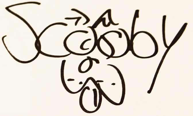 Scooby Doo autograph