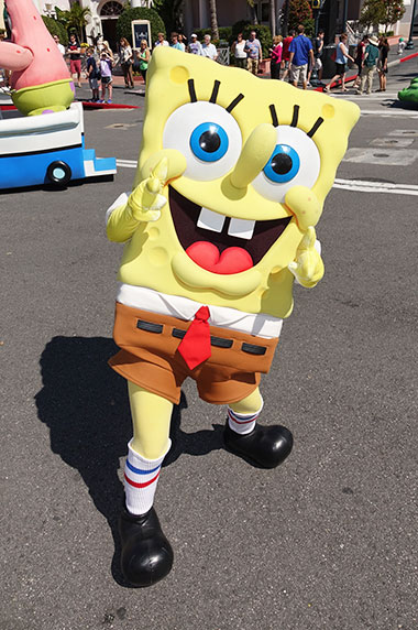 Spongebob Squarepants character meet and greet at Universal Studios Orlando