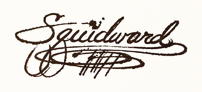 Squidward autograph