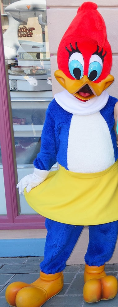 Winnie Woodpecker character meet and greet at Universal Orlando
