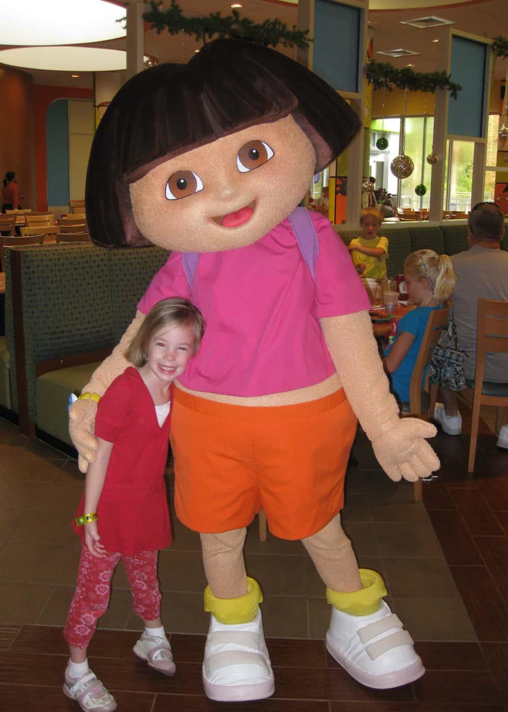 Dora the Explorer at the Nick Hotel 2009